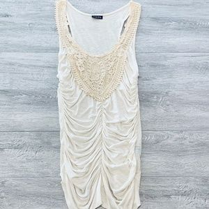 Rue 21 Roughed Tank Top with Lace